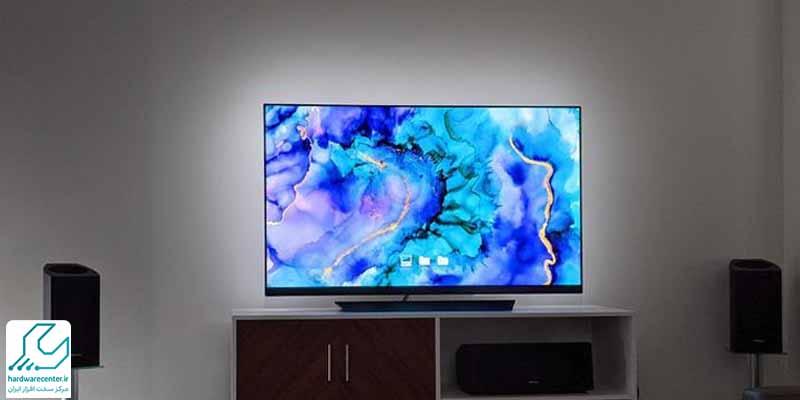 کم نور شدن لامپ تصویر تلویزیون ال جی